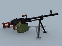 3ds soviet kalashnikov pk pkm