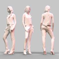 girl posing 3ds