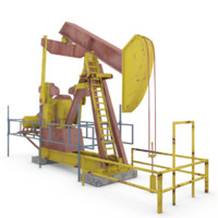 oil pumping 3d max