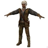 medieval tuareg 3d model