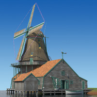 dutch windmill 3d 3ds
