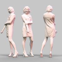 girl posing 3d model