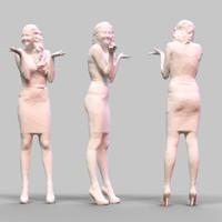 3d girl posing model