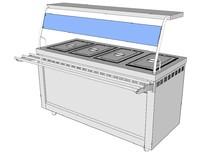 electric bain-marie 3d model