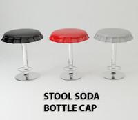 Stool soda bottle cap