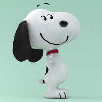 3d peanuts snoopy model