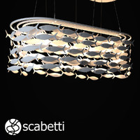scabetti chandellier modeled 3d model