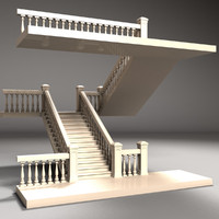 3d staircase model