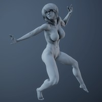 realistic sexy posed woman 3d model