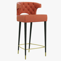 3d model brabbu kansas bar chair