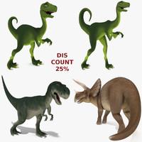 3d model dinosaurs rig
