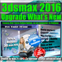 Corso 3ds max 2016 Upgrade What's New Locked Subscription, un Computer.