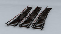 railway subway rails 3d model