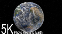 earth rotation 3d model