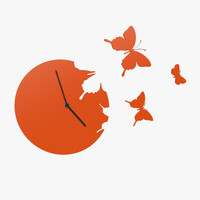 design clock butterflies 3d 3ds