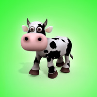 cartoon cow 3d max