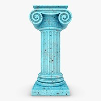 3d model column 04 blue