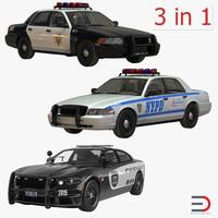 3d generic police cars model