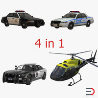 3d police vehicles model