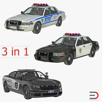 police cars 3d 3ds
