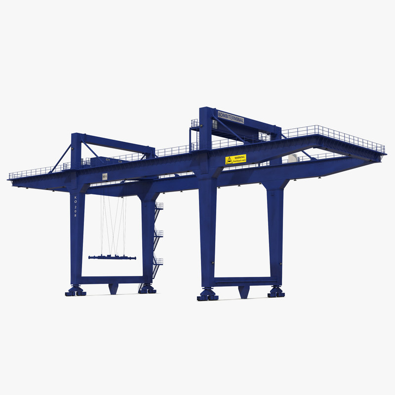 Rail Mounted Gantry Container Crane Rigged Blue 3d model 00.jpg