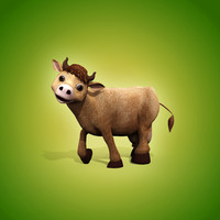 cartoon cow biped animation 3d max