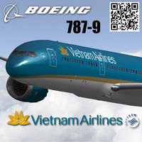 3ds boeing 787-9 vietnam airlines