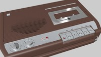 3d model tape recorder electronics