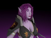 female night elf 3d fbx