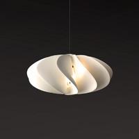 petals folds lamp 3d max