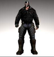 bane batman 3d model