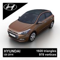 3d model 2014 hyundai i20
