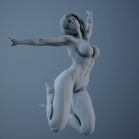 3d model of realistic sexy posed woman