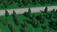Lego road through forest
