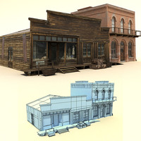 3ds old wild west buildings