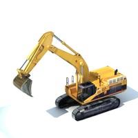 3d model of excavator