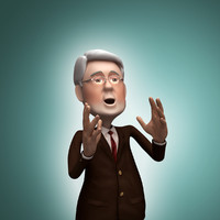 politician rigged animation 3d model