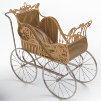 3d model wicker perambulator