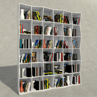 3d bookcase boconcept model