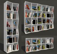 3d bookcase boconcept
