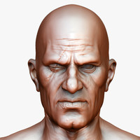 realistic eyed man body 3d obj