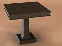 black table dinning 3d max