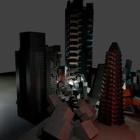 3d city concept layout