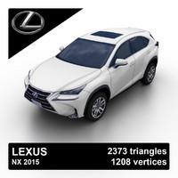 2015 lexus nx suv 3d model