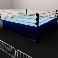3d wrestling ring model