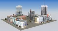 hdrt city block b 3d max