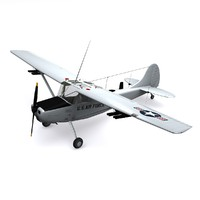3d model cessna o-1 bird dog