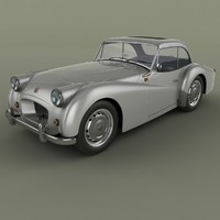 triumph tr2 francorchamps coupe 3ds