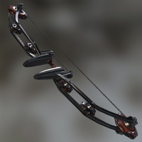 3d dieselpunk bow model