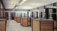 3d max interior modern scientific laboratory